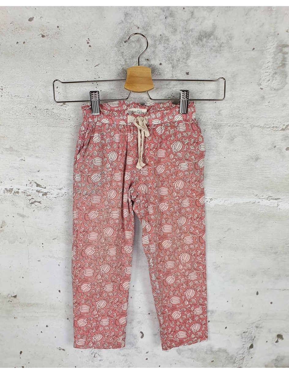 Pink pants with flowers Louise Misha pre-owned