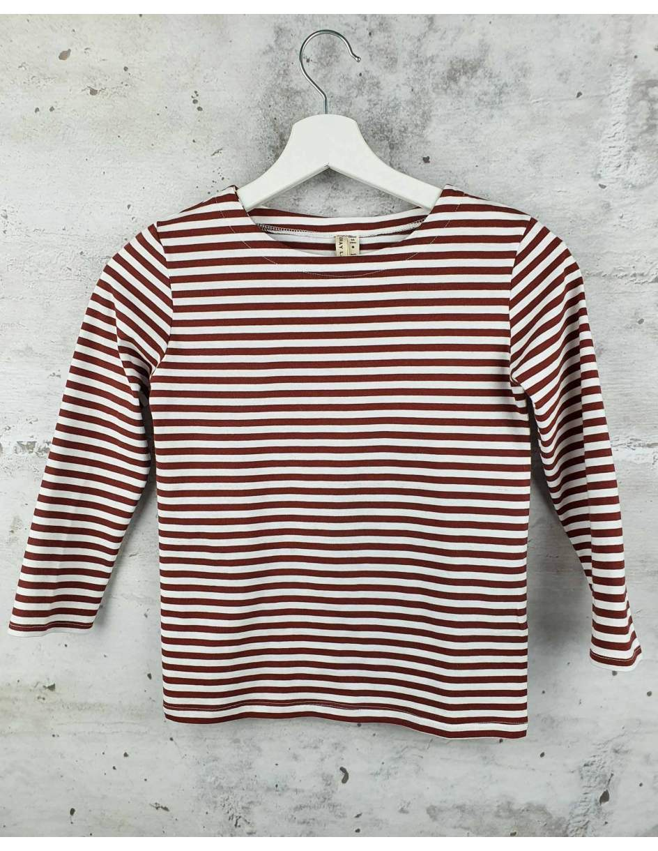 Burgundy striped blouse GRAY LABEL - 1