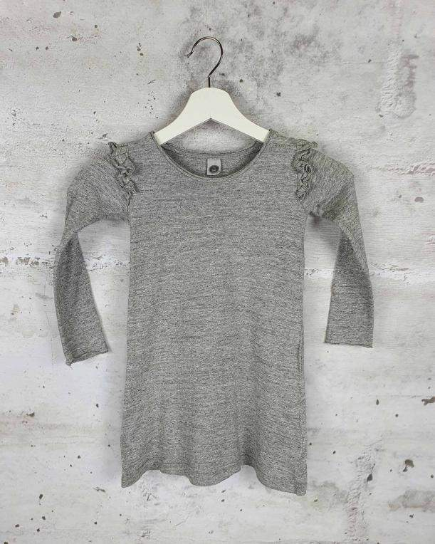 Gray dress with frills Kids On The Moon pre-owned