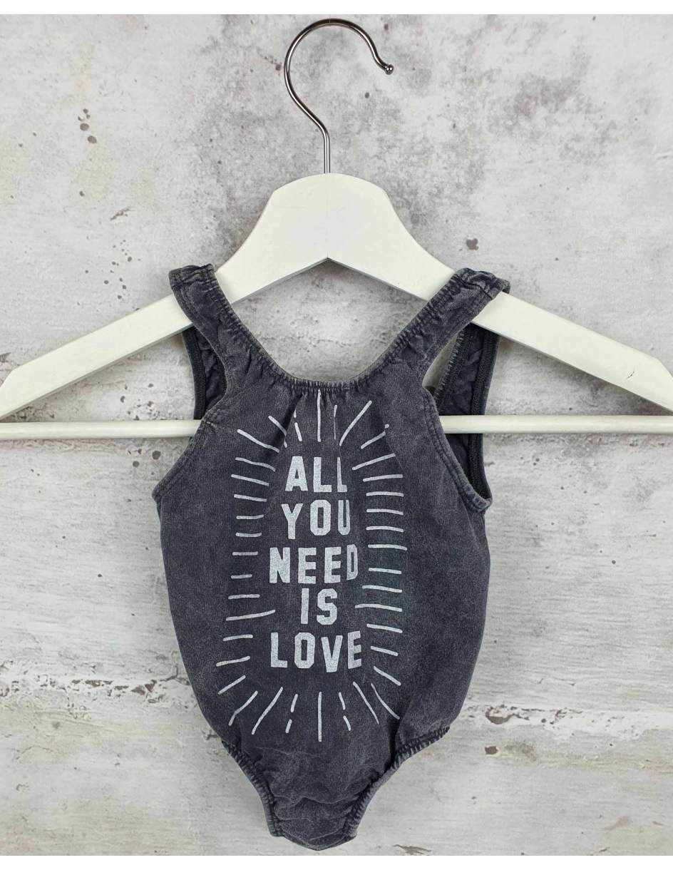 Gray bodysuit ZUTTION kids pre-owned