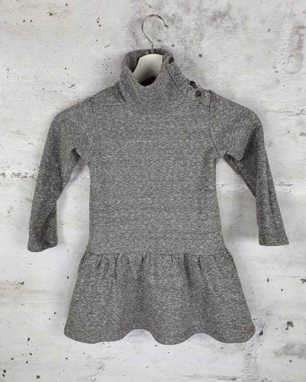 Gray turtleneck dress Anais & I - 1
