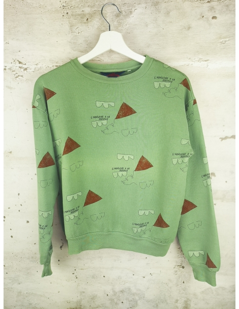 Light green sweatshirt with patterns The Animals Observatory