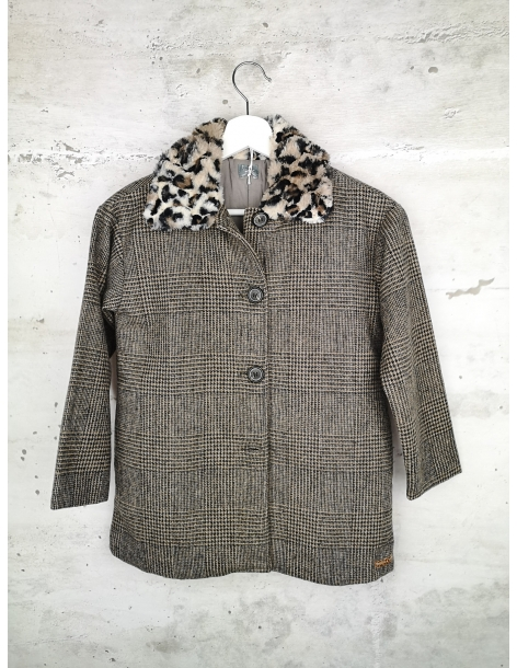 Checked coat with a collar Tocoto Vintage pre-owned