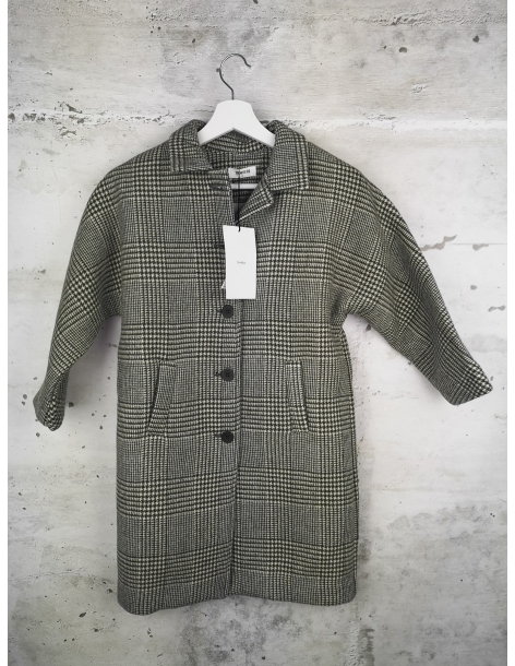 Checked coat TAMBERE pre-owned