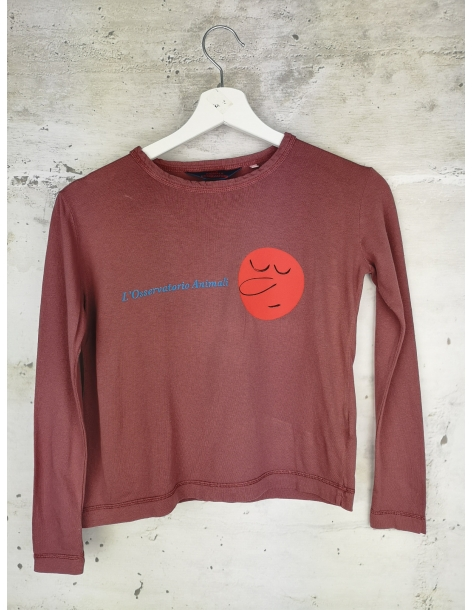 Burgundy blouse with long sleeves The Animals Observatory - 1
