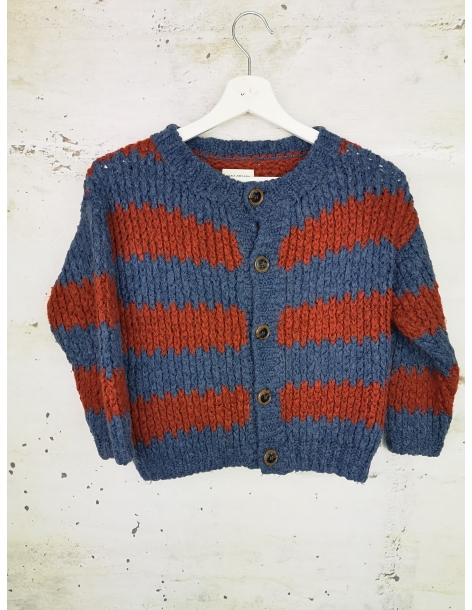 Striped sweater with buttons Bobo Choses - 1