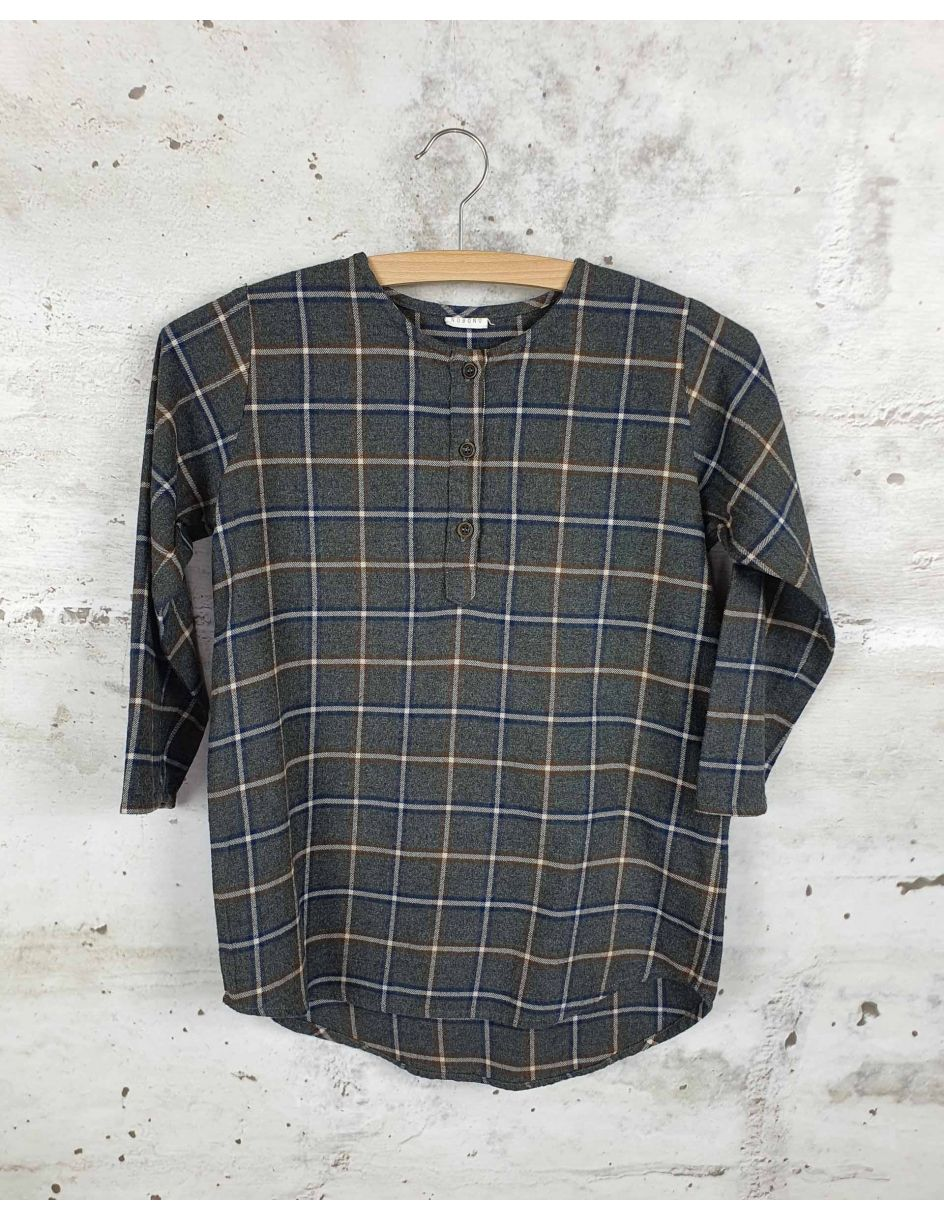 Gray checkered tunic Nobonu - 1