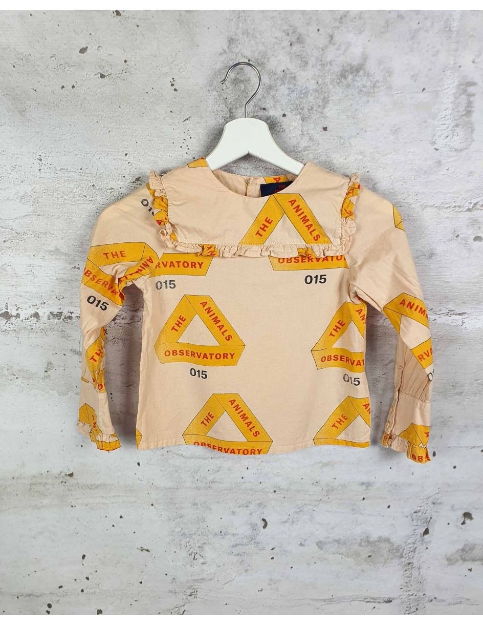 Orange blouse with a print The Animals Observatory pre-owned